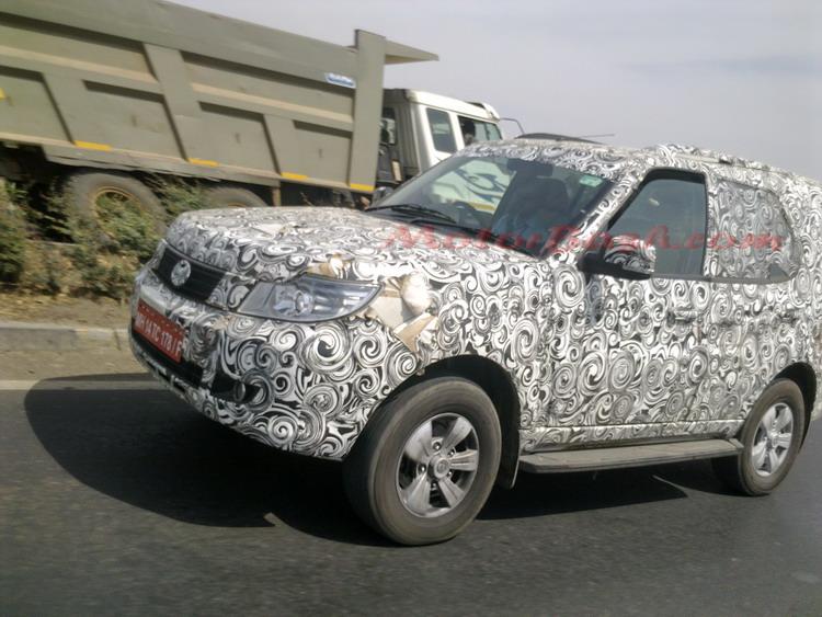 Tata Safari Storme Caught Camouflaged Still Motorbash Com