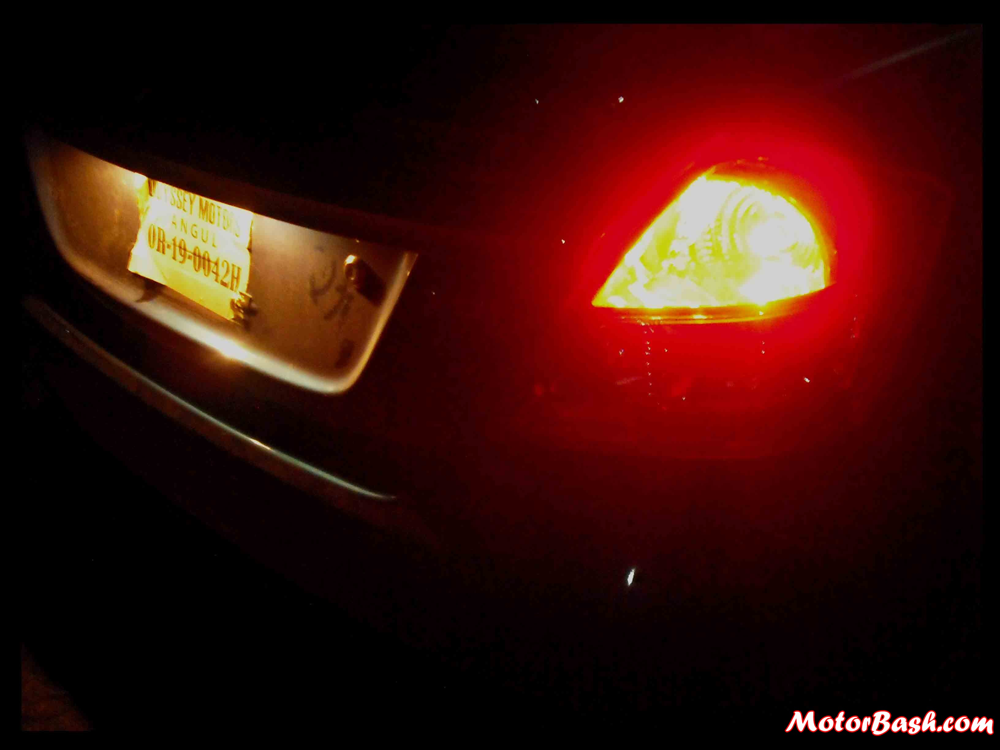 Rear lamps are bright and look good at night.