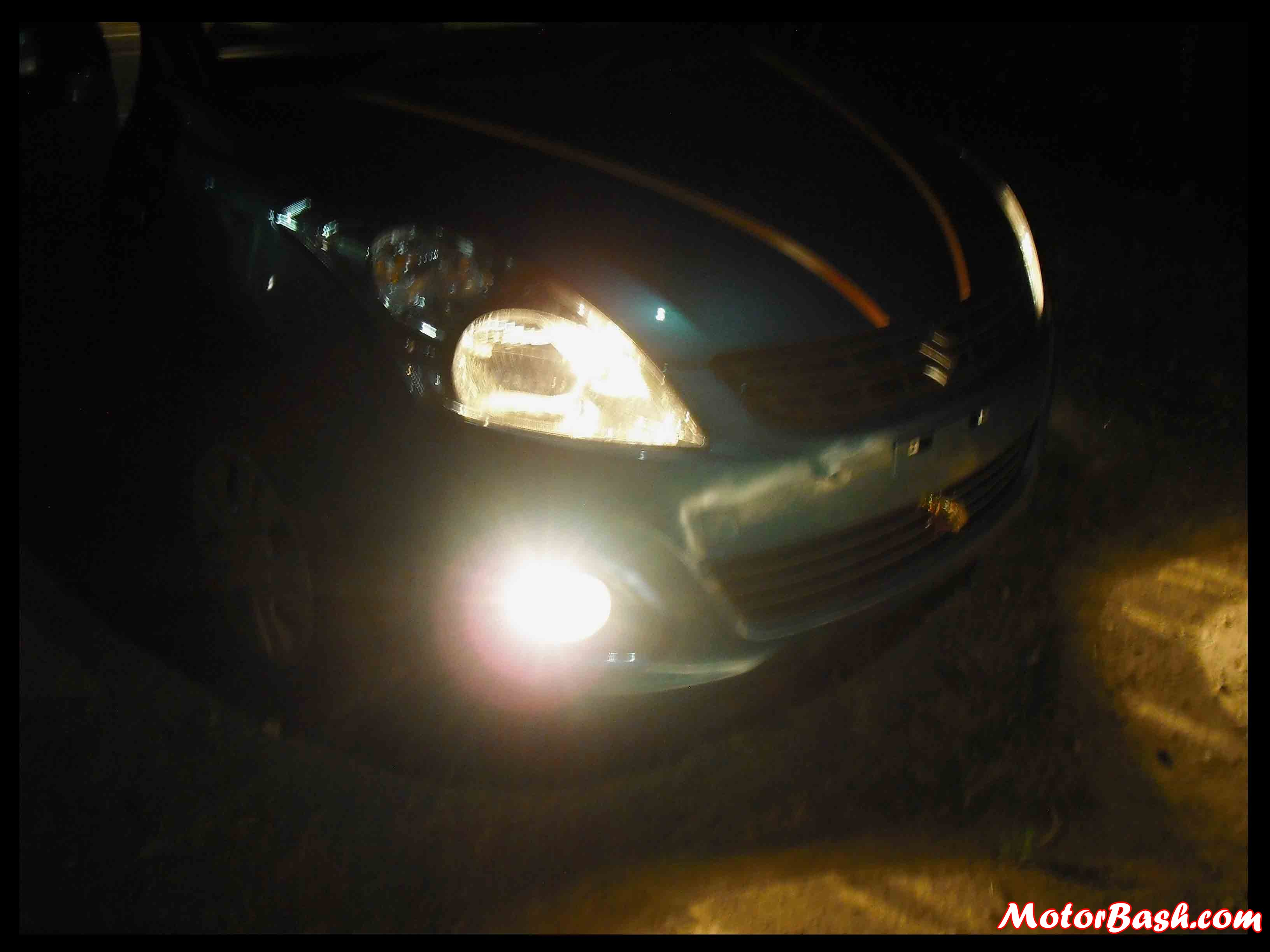 Headlamps beams have good penetration and flow to help you drive safe on highways. Fog lamps are mere parking bulbs literally.