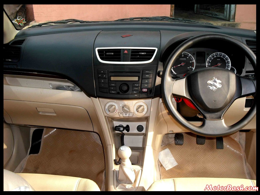 Maruti Swift Dzire Dashboard
