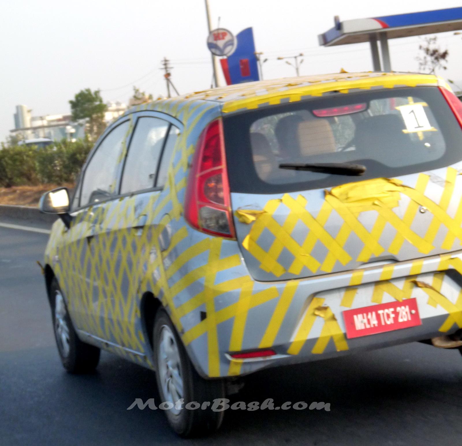 Spied SAIL hatchback testing