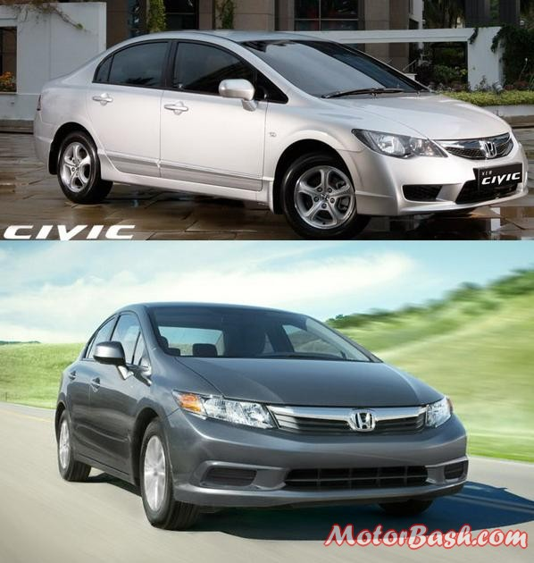 Existing Civic and New 2013 Civic