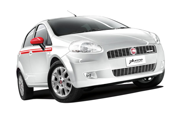 Fiat Grande Punto Limited Edition White front