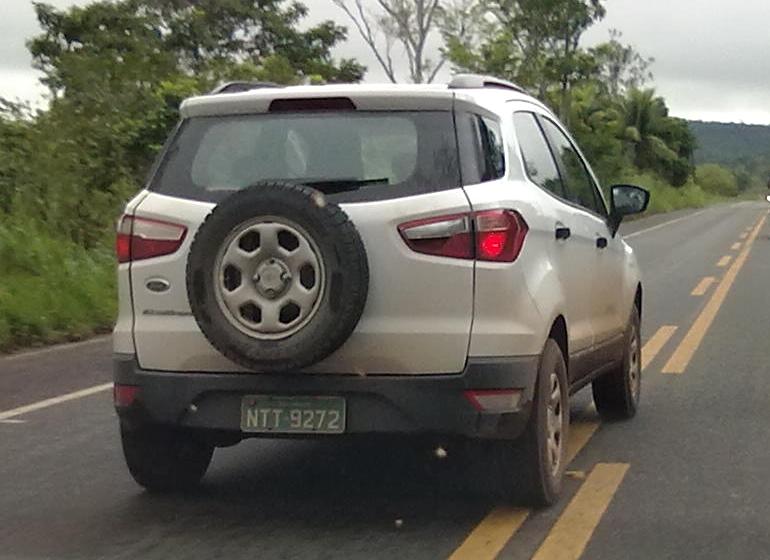 Ford EcoSport White Grey