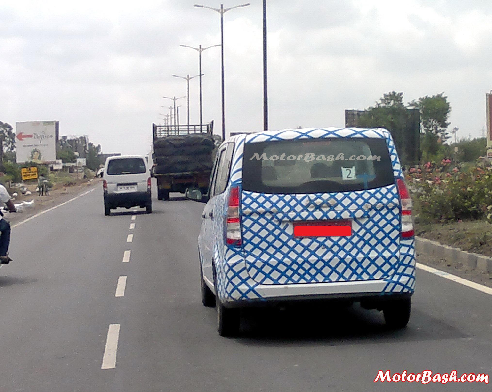 Chevrolet Enjoy India Spy Pictures