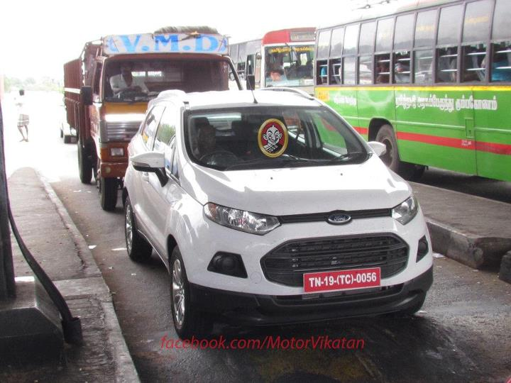 Ford EcoSport India spy pics