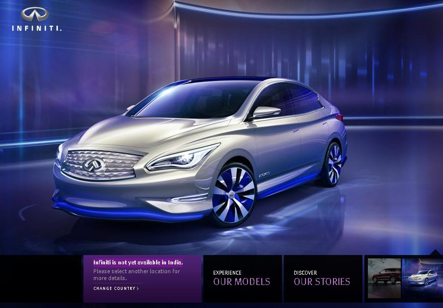 Nissan Infiniti to come to India