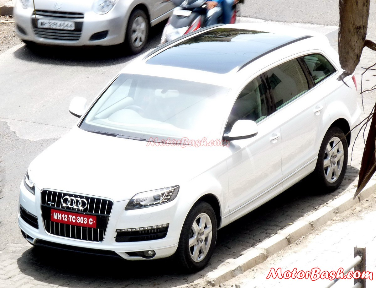 Scoop Audi Q7 Spotted In Pune Is This The Expected V12