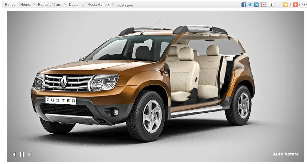 Renault Duster 360 view