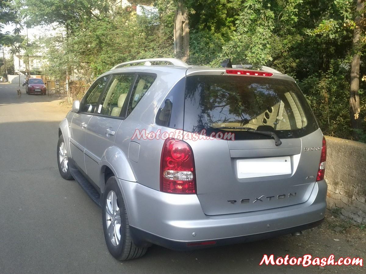 Ssangyong Rexton Mahindra testing