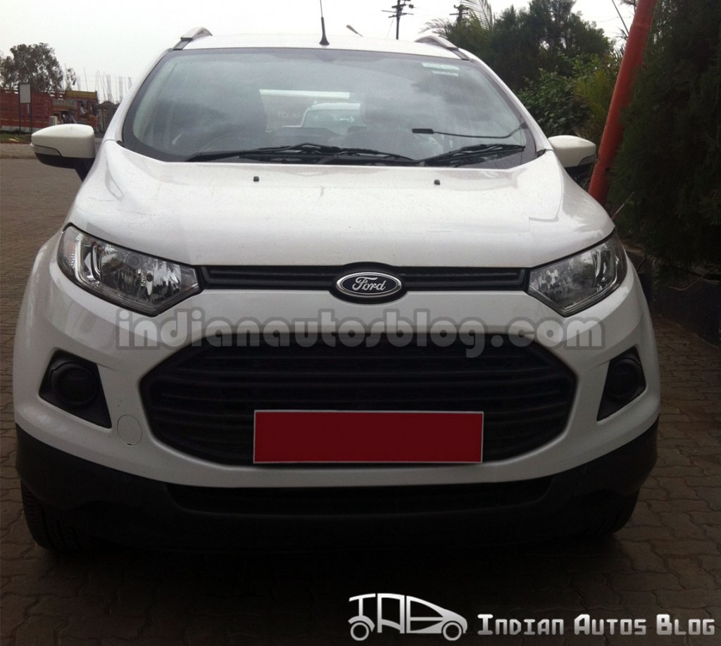 ford ecosport with powershift automatic transmission spotted testing in india. Black Bedroom Furniture Sets. Home Design Ideas