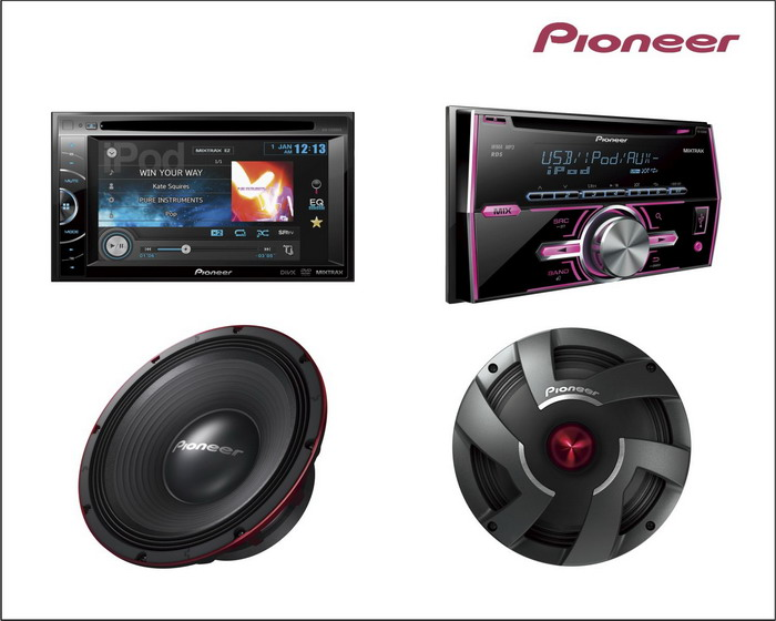 Pioneer-In-Car-Entertainment-Product Pics