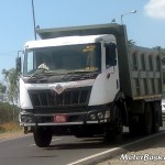 SPIED: Slightly Camouflaged Mahindra Navistar 25 Tonne Truck Caught Testing; Most Probably MN25 Tipper CH
