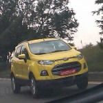 Surprise Surprise! Yellow Ford Ecosport Caught Testing in Chennai