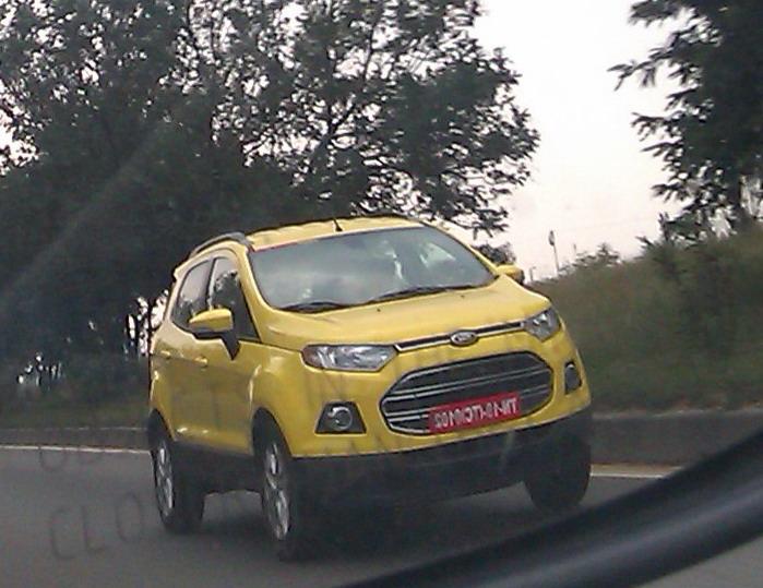 Ford-Ecosport-Yellow-India
