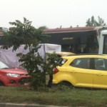 SPIED: Yellow & Red EcoSports Caught Trying to Cut Through Traffic in Chennai