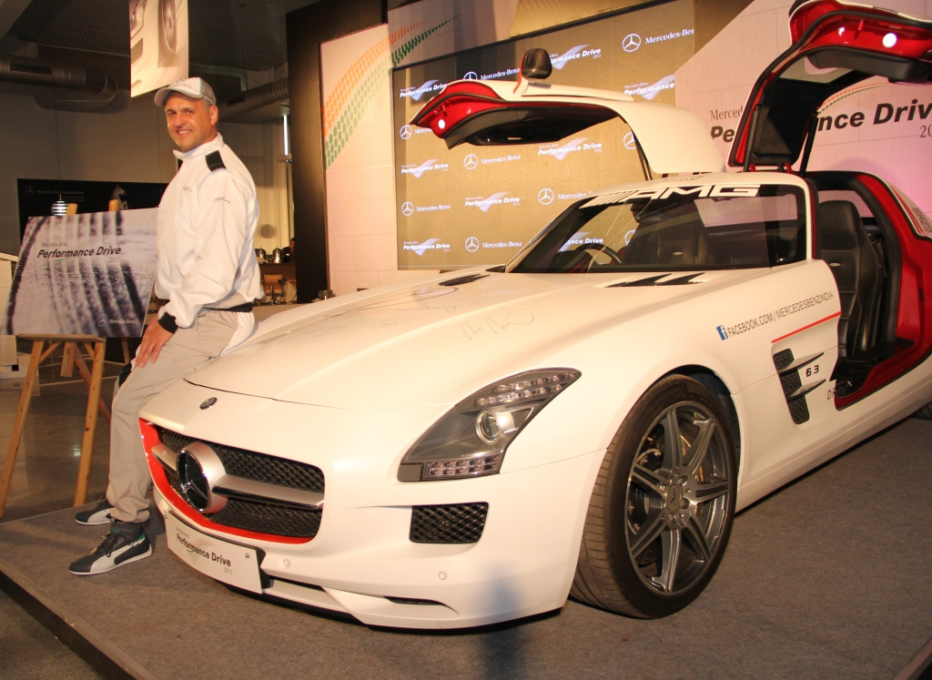 Mr. Eberhard Kern, Managing Director & CEO, Mercedes-Benz India launching the  Mercedes-Benz Performance Drive Experience 2