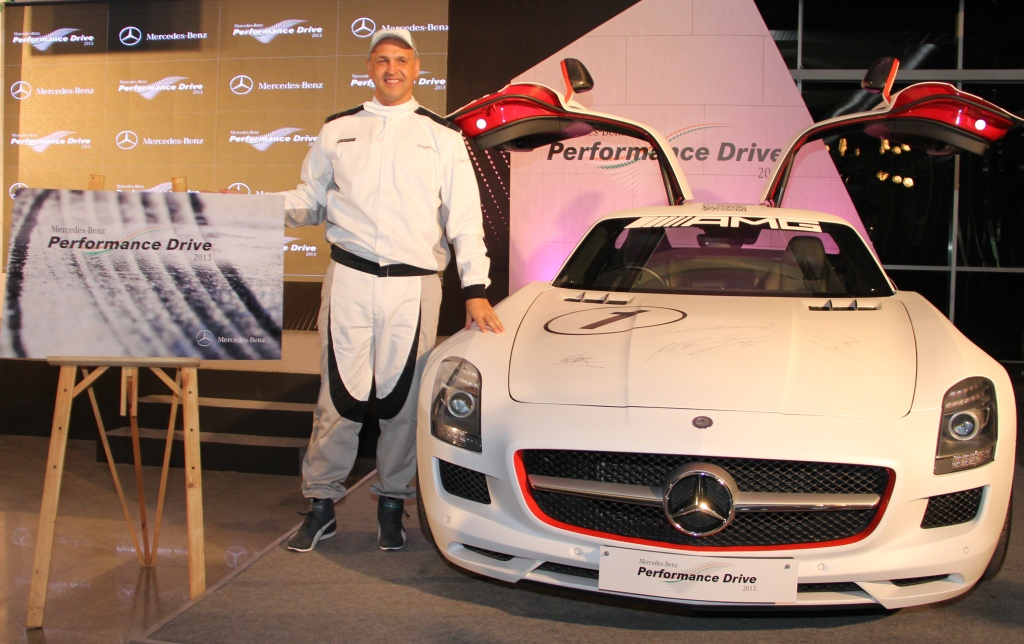 Mr. Eberhard Kern, Managing Director & CEO, Mercedes-Benz India launching the Mercedes-Benz Performance Drive Experience