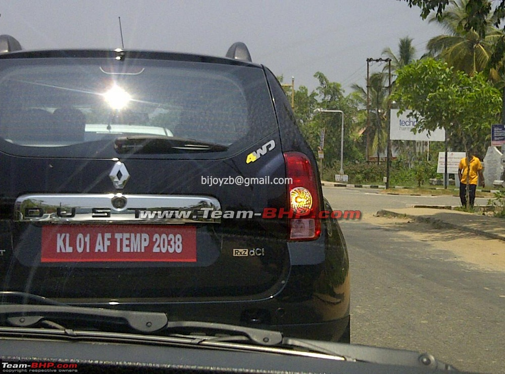 Renault Duster 4WD Spotted in India
