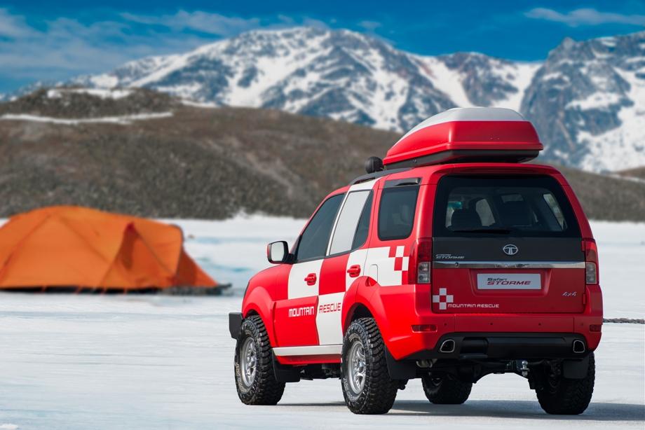 Tata Unveils Safari Storme Mountain Rescue Concept at Geneva Auto Show