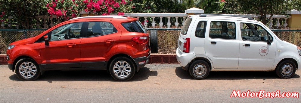ford ecosport vs wagonr in pics a quick dimension comparison. Black Bedroom Furniture Sets. Home Design Ideas