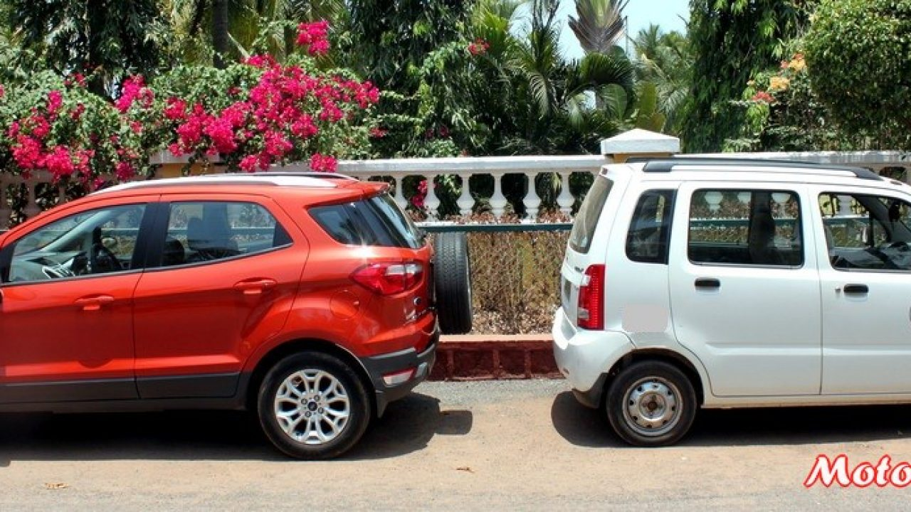 Ford Ecosport Vs Wagonr In Pics A Quick Dimension Comparison