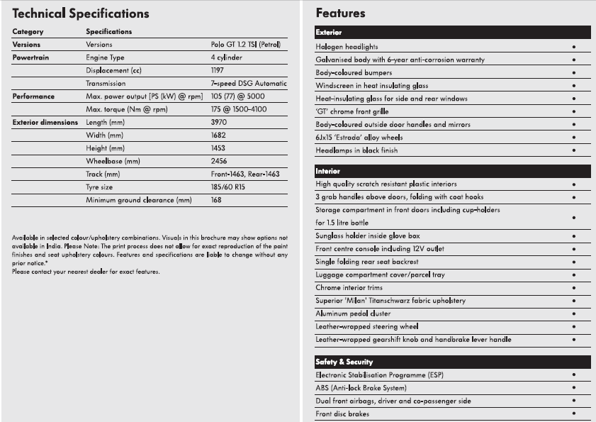 Polo-GT-TSI-Specifications