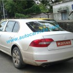 SPIED: Skoda Begins Testing Superb Facelift in India; First Ever Pic