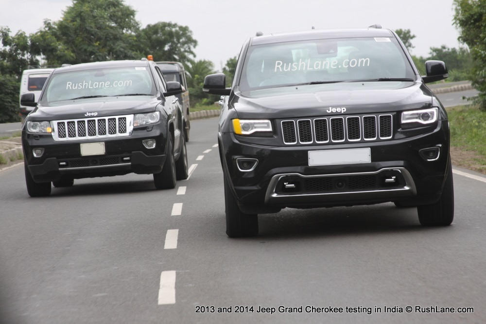 new car releases in india 20142013  2014 Grand Cherokee Spied In India Which One is Coming to