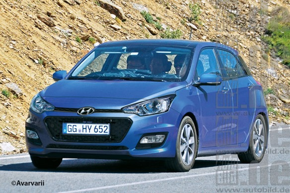 render next gen 2014 hyundai i20 looks sharper larger. Black Bedroom Furniture Sets. Home Design Ideas