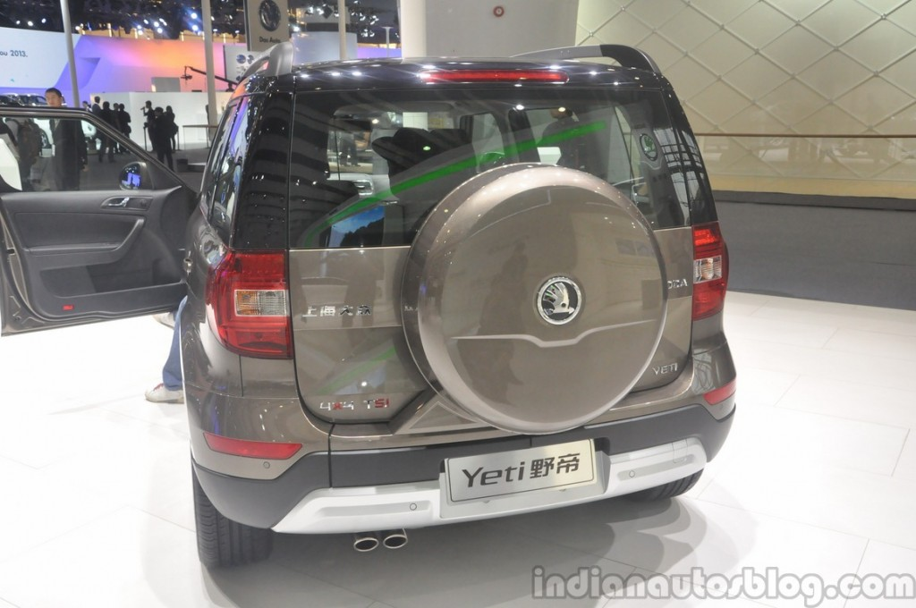 Here is the MAN-ly 2014 Skoda Yeti With Rear Mounted Spare Wheel