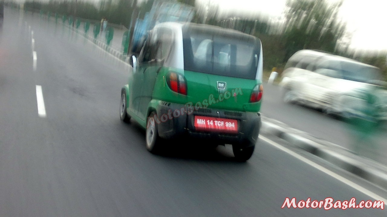 Bajaj re60 cng quadricycle spy pics details launch soon for Commercial motor vehicle definition