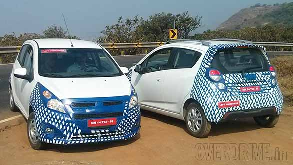 Chevrolet-Beat-Facelift-Spied-in-Pune