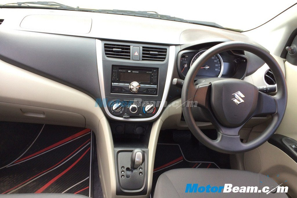 leaked upcoming maruti celerio interiors snapped launch soon. Black Bedroom Furniture Sets. Home Design Ideas