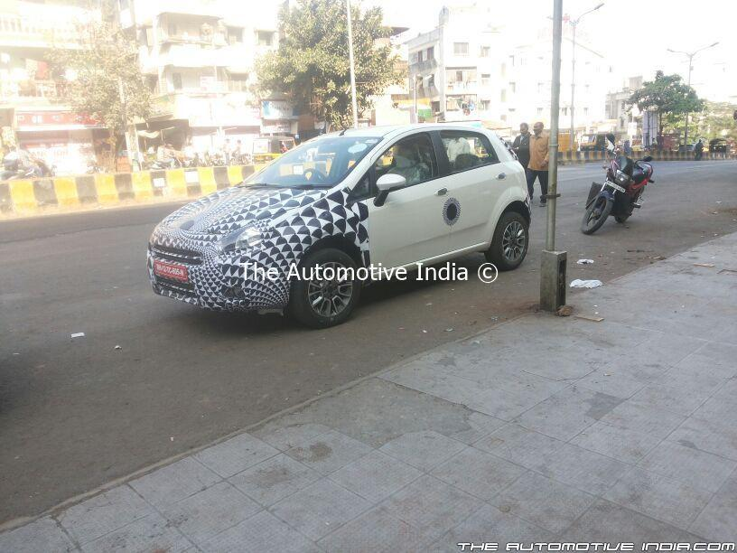 2014-Fiat-Punto-facelift-India-Spy-Pics (2)