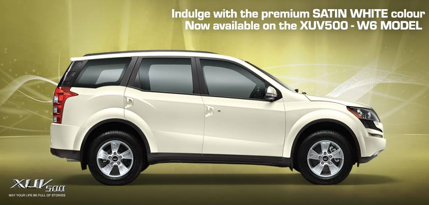 Mahindra Xuv500 White Colour In Xuv500 W6 Grey In W4