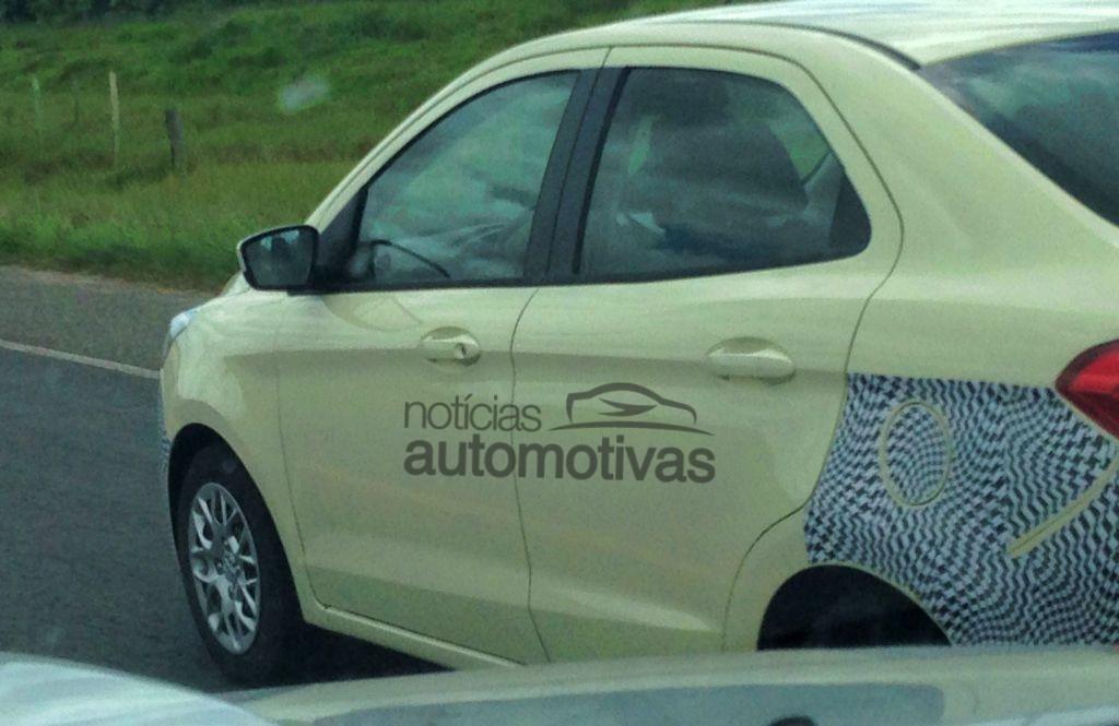 Ford-Ka-Sedan-Spied-in-Brazil-Rear-Three-Quarters