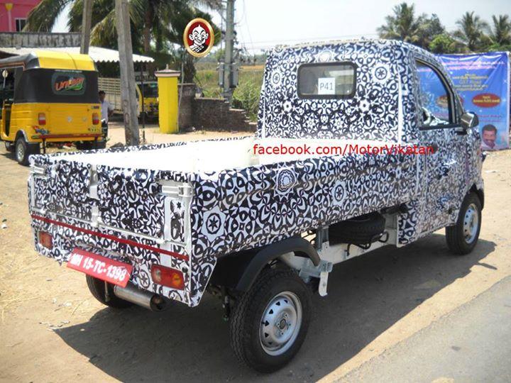 Mahindra-P601-mini-Truck-Spy-Pics-Loading-Bay