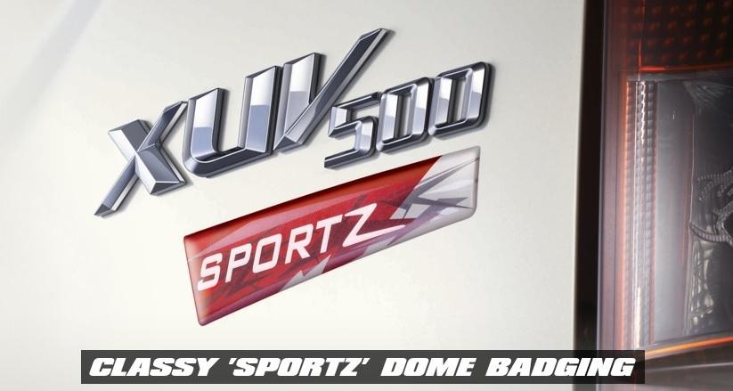 Mahindra-XUV-500-Sportz-Special-Edition-badge