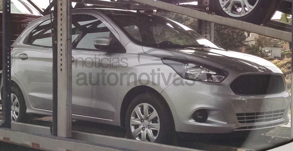 Next Gen Ford Ka Ka Figo Figo Sedan Clicked On A Trailer In Brazil
