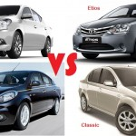 Sunny Facelift vs Scala vs Etios vs Sail vs Classic: Price & Spec COMPARO