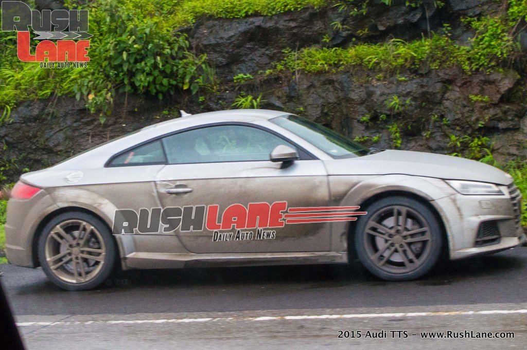 spied 2015 audi tt coupe on the mumbai pune expressway. Black Bedroom Furniture Sets. Home Design Ideas