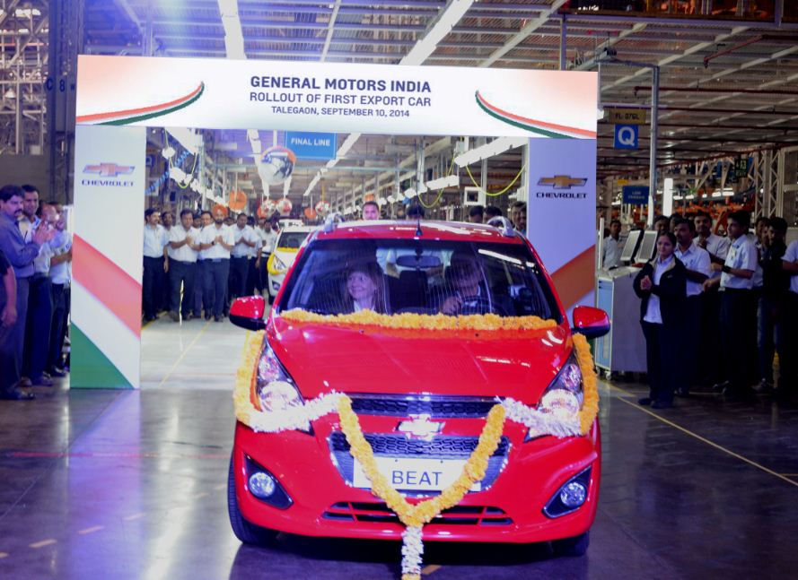 LHD-Chevrolet-Beat-Exports-to-Chile-From-India