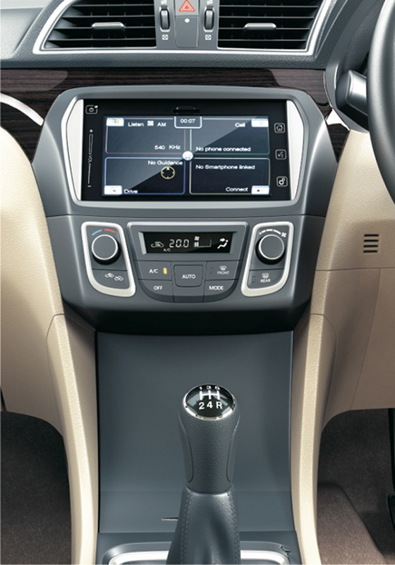 Maruti-Ciaz-Official-Pics-Center-Console