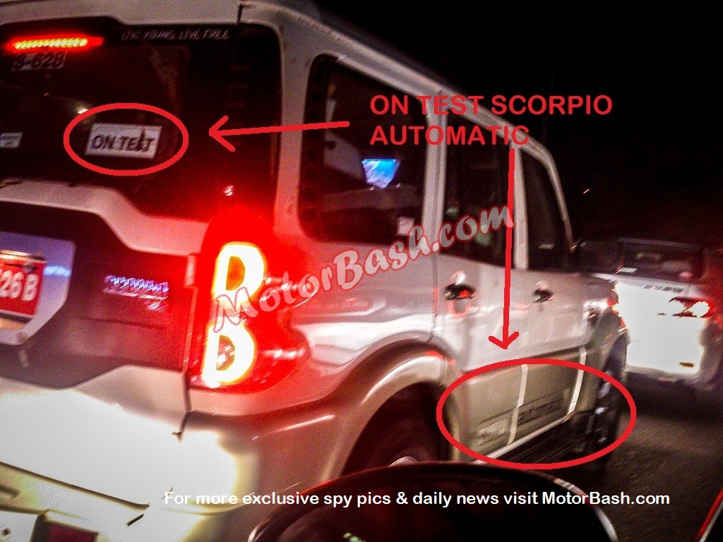 Mahindra-Scorpio-Automatic-AT-Spy-Pic