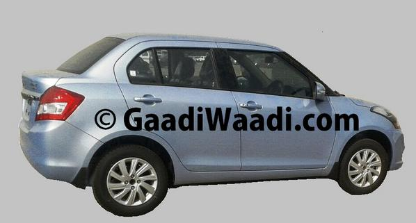 New-2015-Maruti-Dzire-Facelift-Spy-Pic-side-alloys