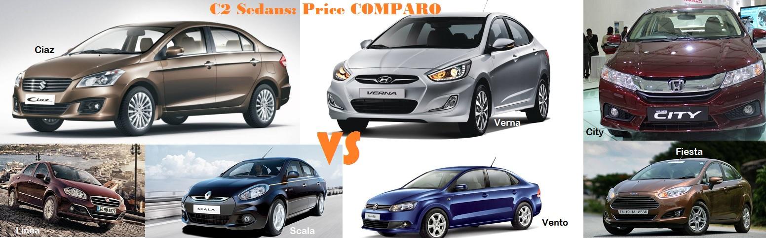 Price-Ciaz-City-Verna-Fiesta-Vento-C2-Sedans