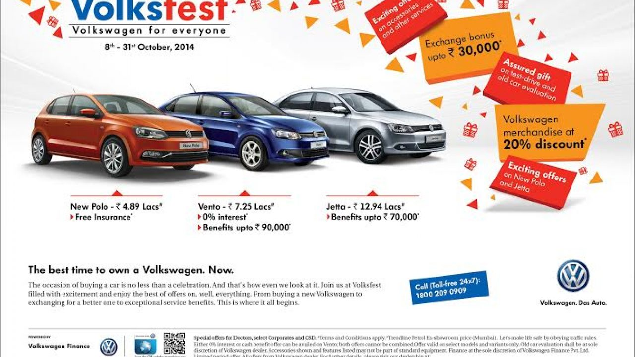 Volksfest 2014 Get Offers Upto Rs 90 000 On Vento Jetta