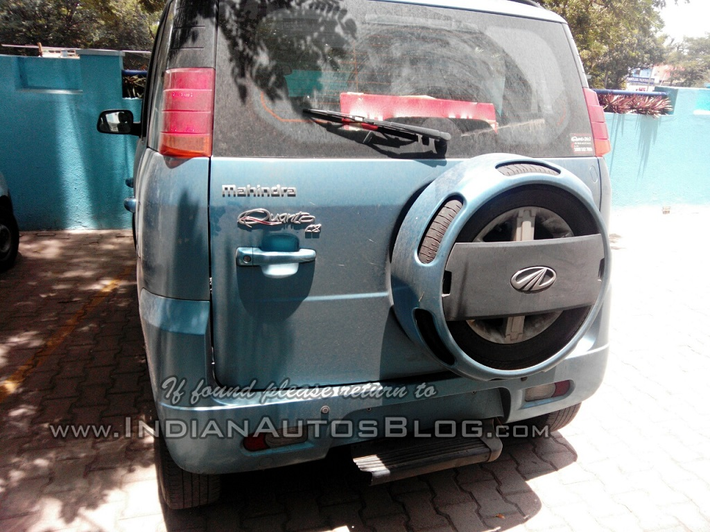 New-Mahindra-Quanto-Automatic-AMT-Auto-gearshift-spy -pics-rear