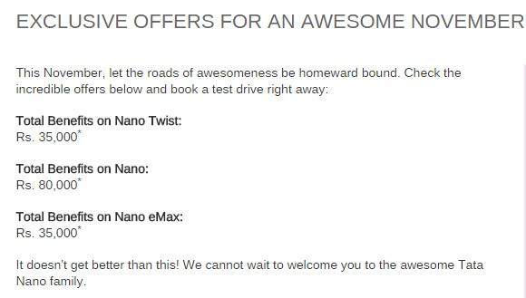 Tata-Nano-Offers